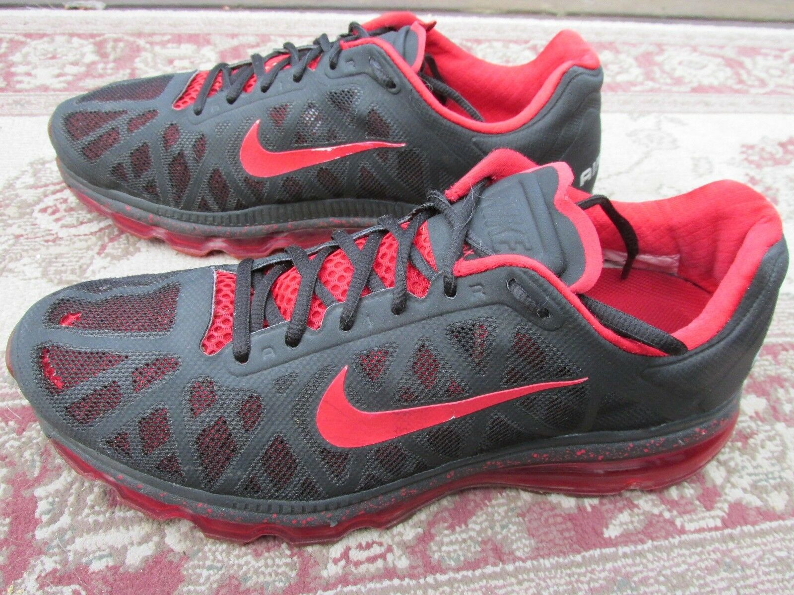 30e429242 Nike Air Max Charcoal Gray Gray Gray Red Low Basketball Shoes Men s US 12M  4a8255