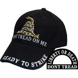 DONT TREAD ON ME - READY TO STRIKE - LIBERTY OR DEATH HAT