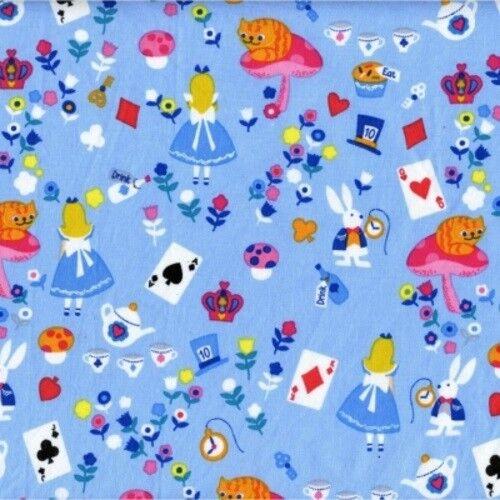 Timeless Treasures Novelties 2018 C4467 Blue Alice Cotton Fabric