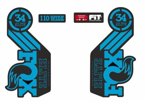 Suspension Factory Style Decal Kit Sticker Adhesive Set Blue FOX ELITE Fork