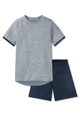 Schiesser Jungen Pyjama Schlafanzug Kurz Xs S M L 140-176 100% Co Nachtwäsche Um Jeden Preis