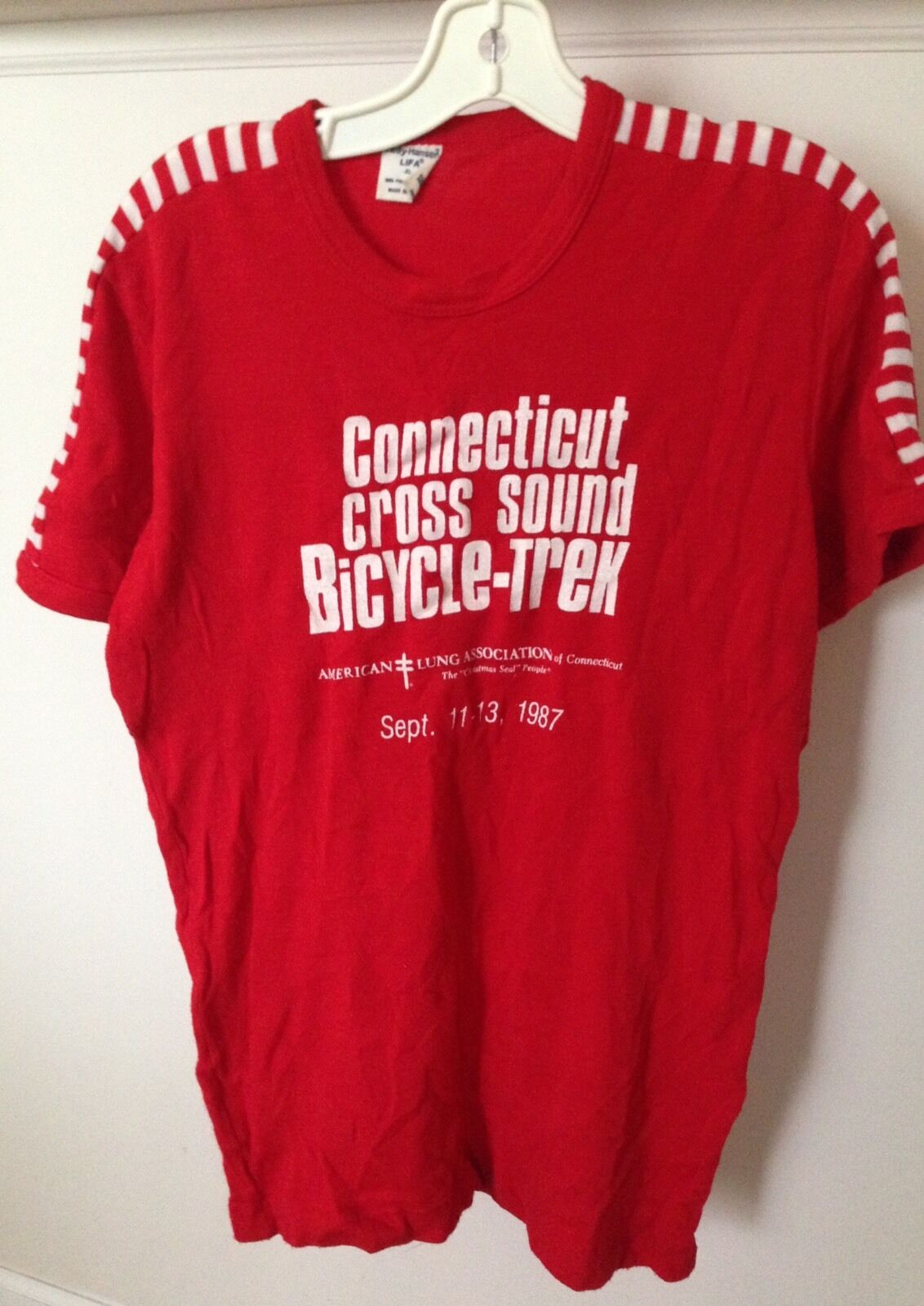 Vintage Sound Connecticut Cross Sound Vintage Bicycle Trek Helly Hansen Polypropylene XL Shirt 53258a