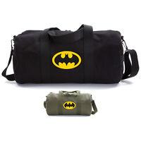Batman Bat Symbol Logo Military Canvas Duffle Bag Travel Tote Sport Gym Duffel