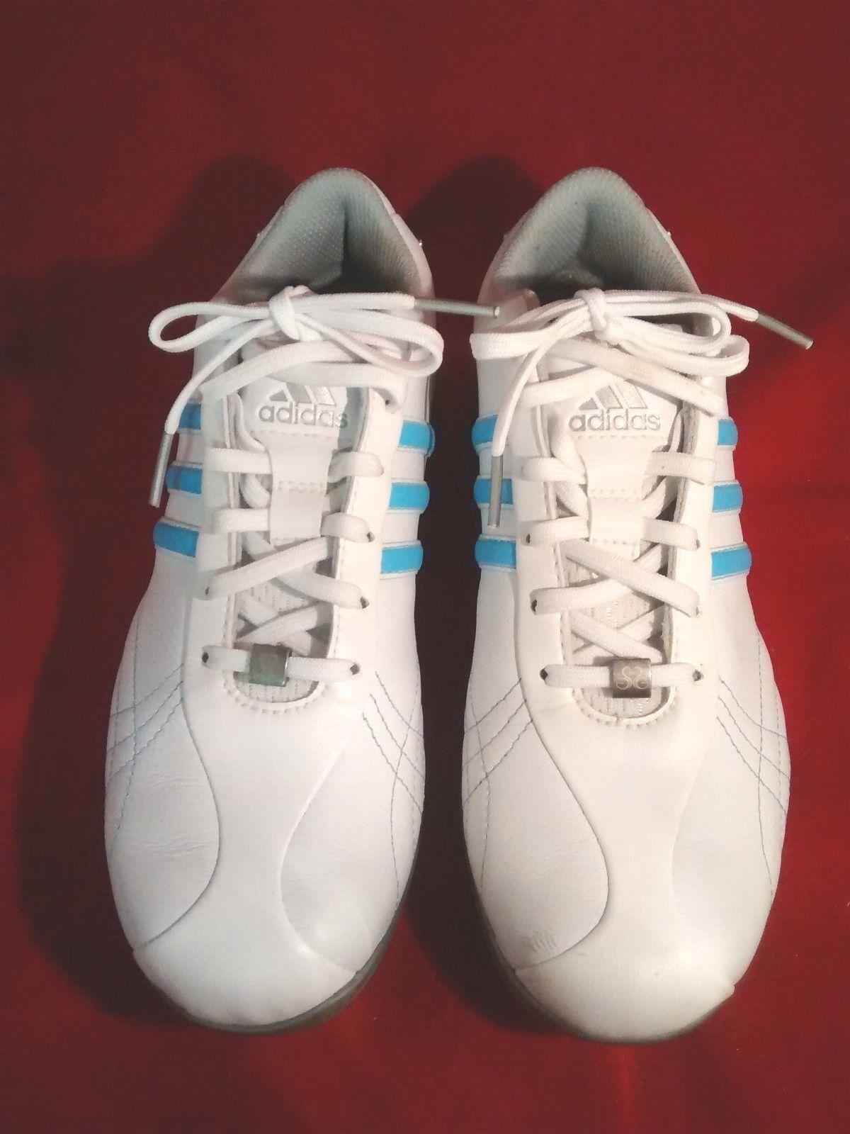 ADIDAS Chaussures de golf blanc / bleu taille 6 1/2 pour femmes ThinTech FitFOAM