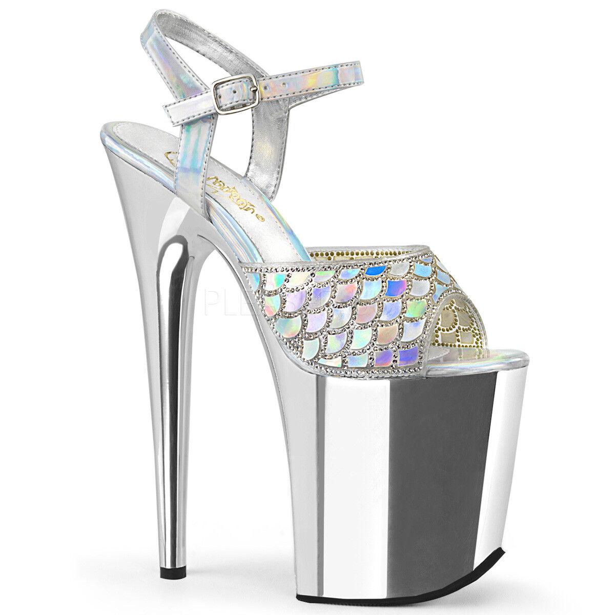 8  argent Rhinestones Platform Mermaid Mermaid Mermaid Costume Platform Stripper Heels chaussures 25e0f5