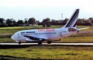 PHOTO  F-GBYK BOEING 737-200 AIR FRANCE BIRMINGHAM 10-06-1986