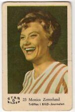 1960s Swedish Film Star Card Bilder D #23 Singer and Actress Monica Zetterlund