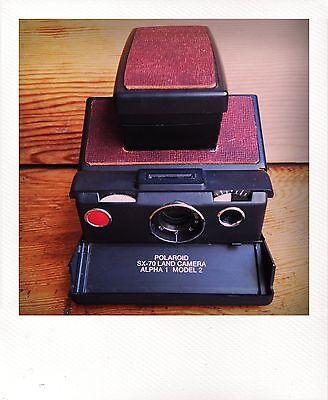 Polaroid SX-70 Land Camera W/ New Chili Leather Covering - GUARANTEED WORKING