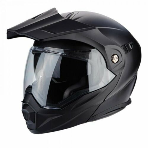 Scorpion Adx-1 Matt Black Flip up  adventure Touring MX Style Sun visor Helmet