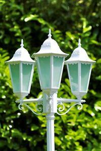 Détails sur Candélabre Lampadaire extérieur Lanterne de jardin Design  Classique Blanc 30315