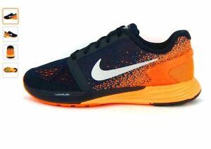 Nike Lunarglide 7 GS Dark Obsidian Orange Running Baskets 747965 401 UK6 EU39