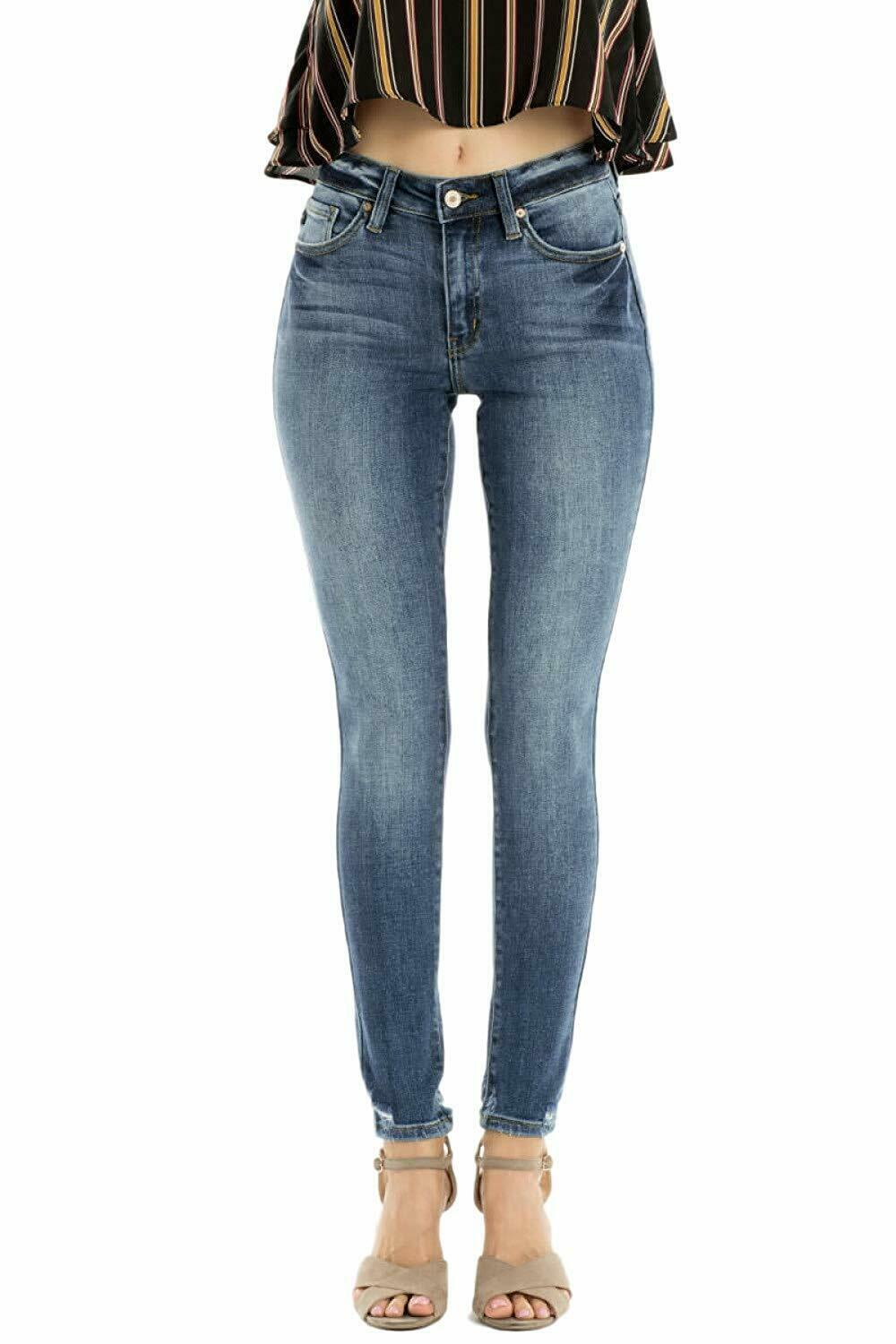 KanCan Jeans Leary High Rise Medium Dark Wash Curvy Fit Skinny Jeans KC9141D