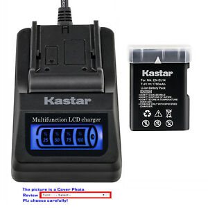 Details about Kastar Battery LCD Quick Charger for Nikon EN-EL14 & Nikon  D5200 DSLR Camera