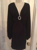 Symphony PLUS SIZE Sexy Black Clubwear BodyCon Cut Out Sleeve Dress 3x