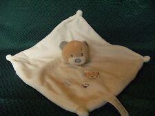 "TINY TREASURES WHITE TEDDY BEAR PLUSH COMFORTER BLANKIE CARD FACTORY 10"" approx"