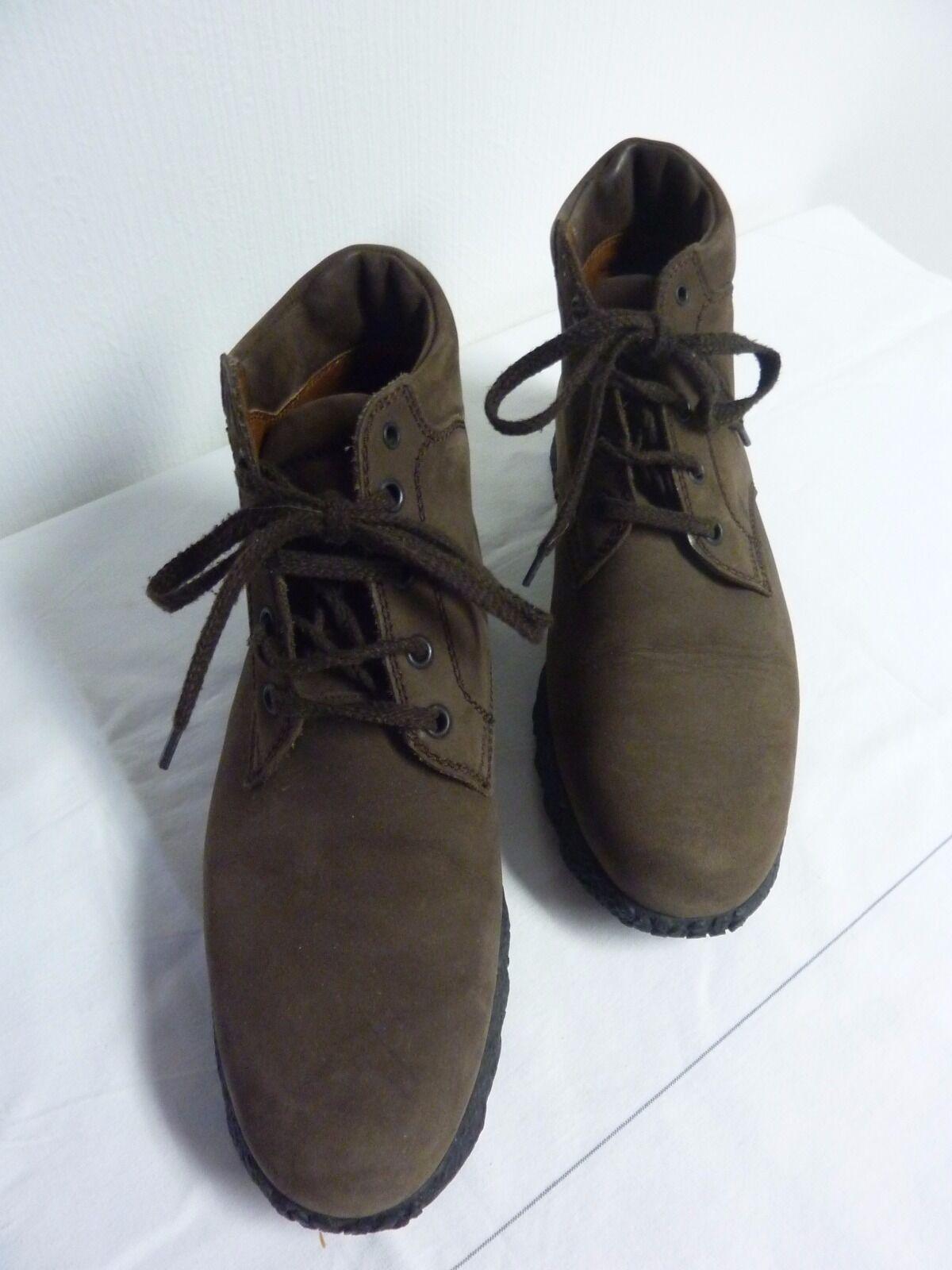 Tod's tods botín Boots ata gamuza cuero Zapatos señora, marrón