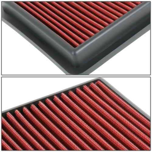 FOR 18-20 HONDA ACCORD 1.5 WASHABLE/&DURABLE DROP-IN AIR FILTER INTAKE PANEL RED