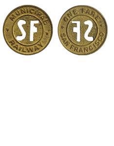 Used circulated San Francisco MUNI token