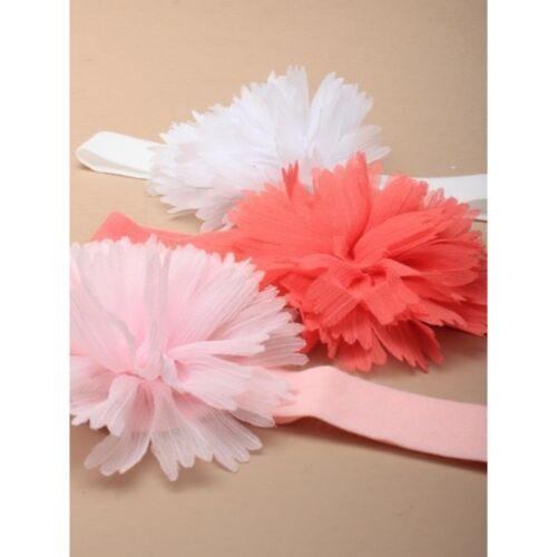Cute adorable enfant tissu extensible bandeau avec fleur chrysanthème 3 couleurs