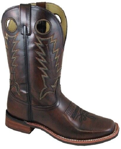 NEW  Smoky Mountain Boots - Men's Western Cowboy - Leather - Square Toe - Brown