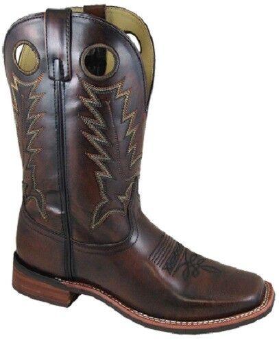 West Cowboy Mountain Smoky Quadrata Punta Pelle Uomo Boots Del Nuovo FYq6I