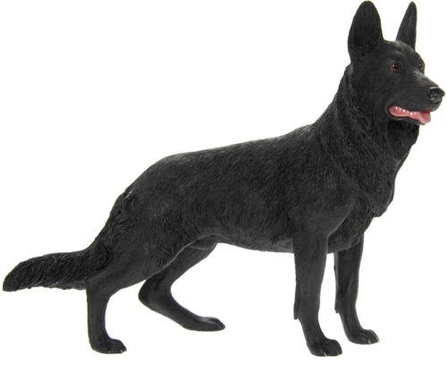 Quality Black German Shepherd//Alsatian Dog Ornament//Figurine.Leonardo.Gift Boxed