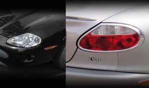 Image Is Loading Jaguar Xk8 Amp Xkr Chrome Headlight Tail