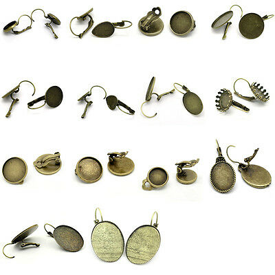 Cabochon Setting Earring Clips Cabochon Setting Earring Clips M0974