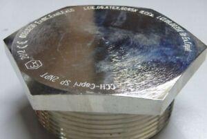 AMPMECH-EATON-CROUSE-HINDS-CAPRI-EXD-amp-EXE-STOPPING-PLUG-1-1-2-034-NPT-NICKEL-BRP