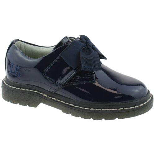 Irene Navy Blue Patent School Shoes F