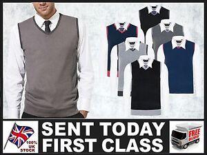 Men-039-s-Cricket-Tank-Top-Business-Slip-over-Knitted-V-neck-Sleeveless-Vest-Sport