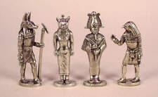 Cuatro amuletos estaño fino en Dios Egipcio-Anubis, Osiris, Horus, Bast