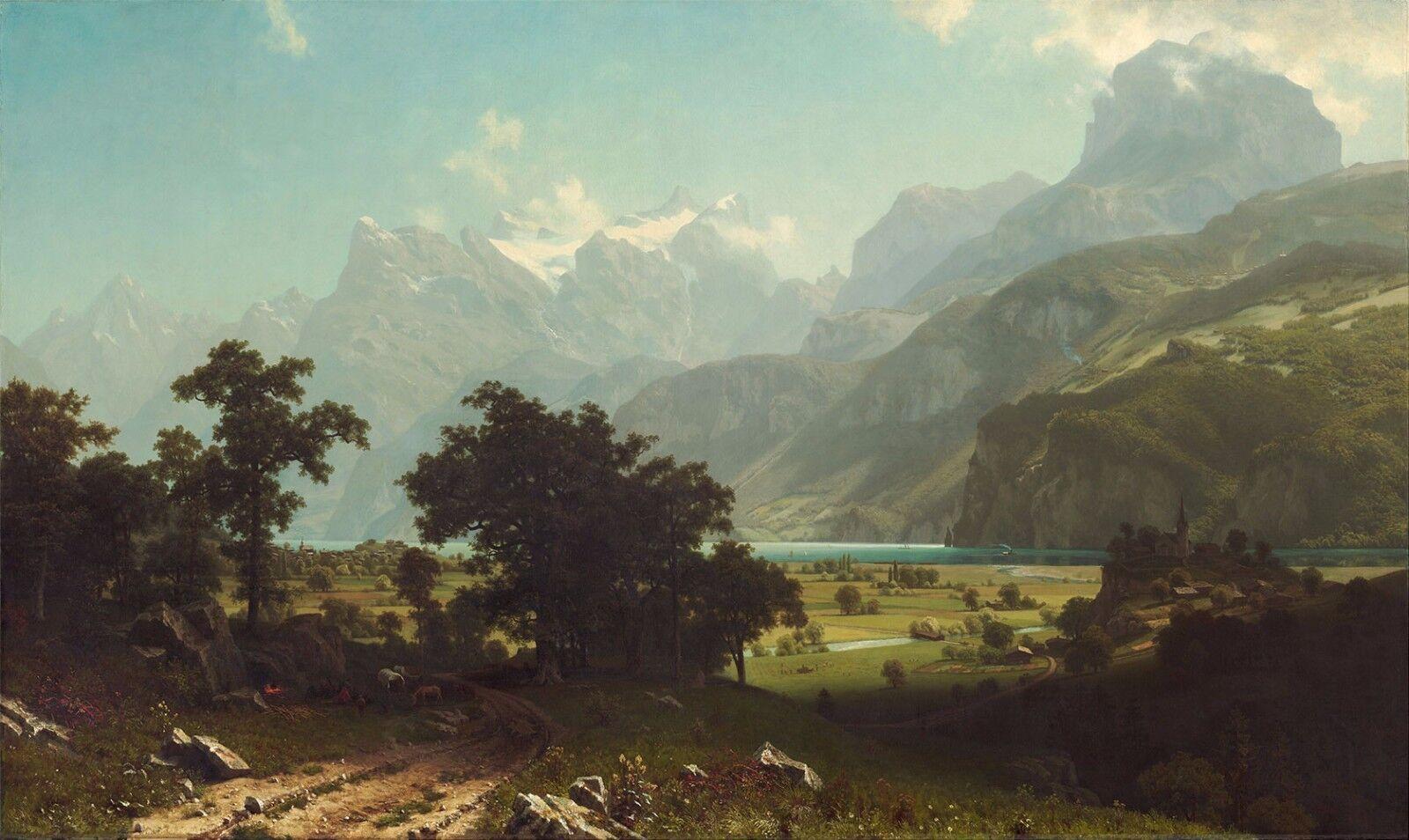 Albert Bierstadt    Lake Lucerne  (1858) — Giclee Fine Art Print