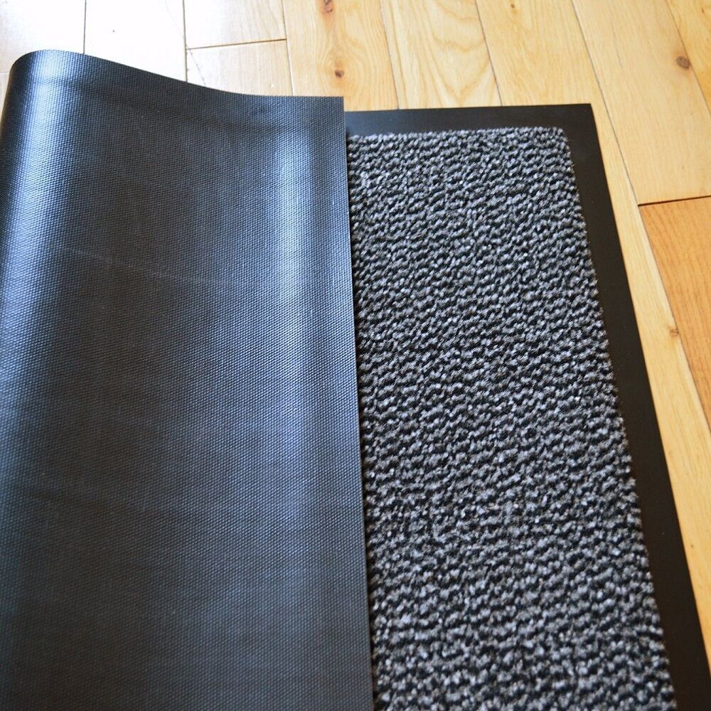 heavy duty non slip rubber grey barrier mats rugs back door hall kitchen floor. Black Bedroom Furniture Sets. Home Design Ideas