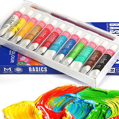 Christmas Gift 12 Acrylic Color Peinture Acrylique Paint Tube Painting Box Set