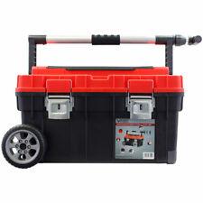 Vintec Mobiler Werkzeugkoffer mit Teleskopgriff, Kleinteilefächer & Trage