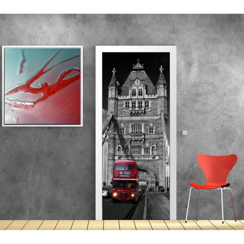 Cartel Póster para Puerta - Autobús Inglés 615 Arte Decoración Pegatinas