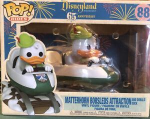 Funko Pop Donald Duck Matterhorn Bobsleds Attraction Disneyland Parks 65th #88
