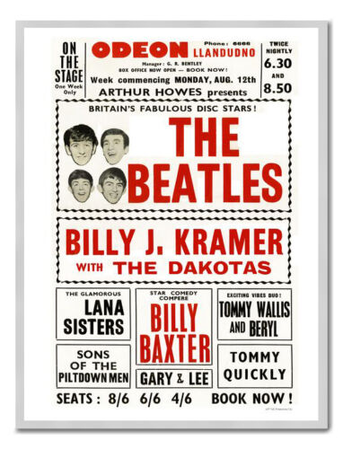 Beatles At Llandudno Odeon Poster Print New