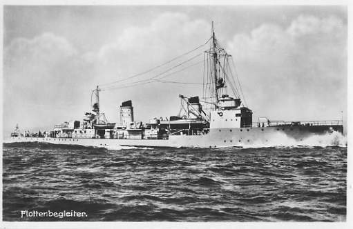 Scorta barca F 9/F 10, (1935), Marina da guerra fino a 1945. edifici 1:100
