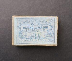Boite-plume-BAIGNOL-amp-FARJON-236-nibs-box-Schreibfeder-pennini
