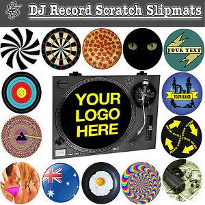 DJ Record Turntable Scratch Slipmats decks vinyl club disc jockey birthday gift