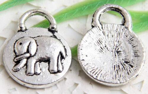 Wholesale 18//36Pcs Tibetan Silver(Lead-Free)Elephant Charms  14.5x19mm