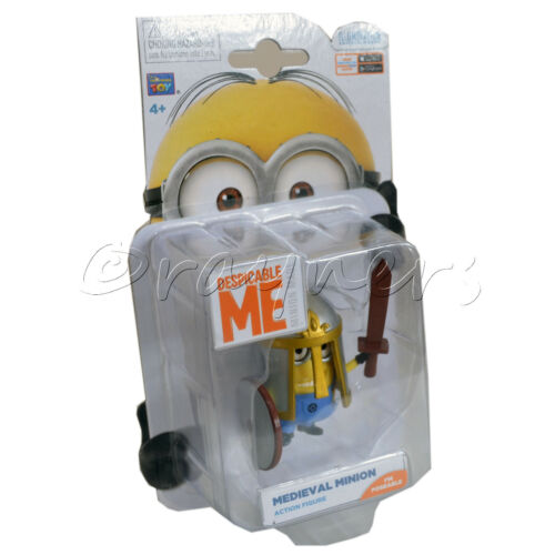 """New Despicable Me 2 Medieval Minion Detailed Action Figure 2-3/"""" Poseable"""