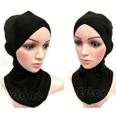 Underscarf Colors Full Cover Inner Muslim Cotton Hijab Cap Islamic Head Wear Hat