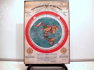 Flat Earth Map Poster Print Gleason S New Standard Map Of The