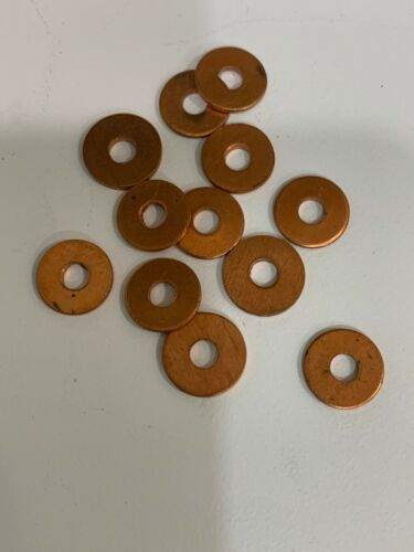 Lot Of 12 New Solid Copper Washers 5//32/'/' ID x 1//2/'/' OD x 1//16/'/' Thick