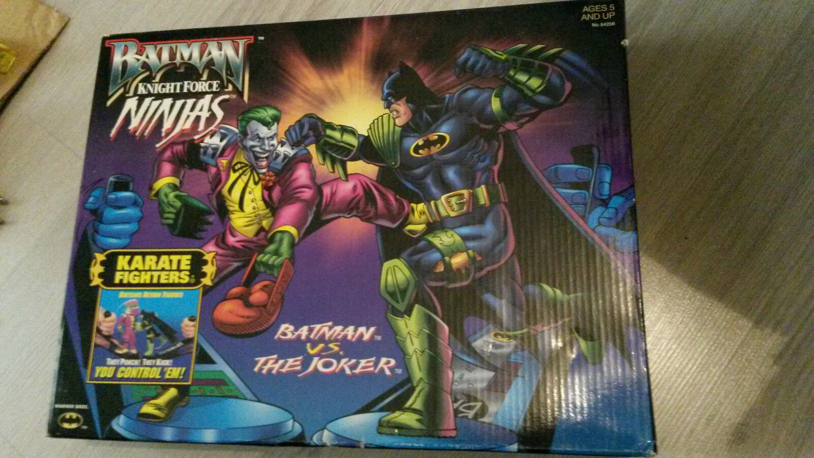 Batman und joker karate - kämpfer ritter kraft ninjas hasbro 1998 vintage selten moc