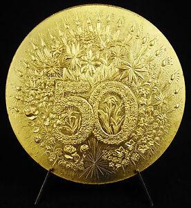 Medal-Wedding-Gold-50-Years-of-Wedding-189-G-72-mm-Medal