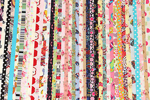 10-PCs-2-5-034-x44-034-Jelly-Roll-Strips-Cotton-Fabric-Floral-Mixed-Quilt-Patchwork-R2